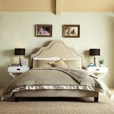Beige Upholstered Bed Homesullivan Beauvais Beige Full Upholstered Bed 40e377b912w 3a