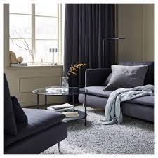 Ikea Velvet Curtains Sanela Curtains 1 Pair Grey 140x250 Cm Ikea