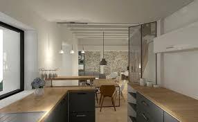 renovation cuisine chene renovation cuisine en chene 2 cuisine avec bar et verriere plan