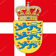 denmark coat of arms and flag u2014 stock vector frizio 92088798
