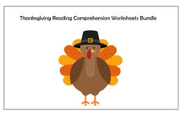 thanksgiving day reading comprehension text worksheet by