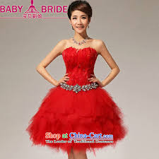 bride wedding dresses red sister skirt feather small tents skirts