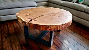 Rounded Edge Coffee Table - live edge river coffee table how to build woodworking