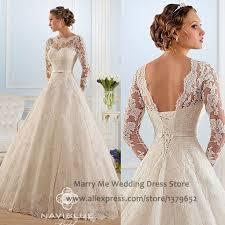 Wedding Dress Ivory Sheer Scoop Neck Zipper Up Long Sleeves Lace Mermaid Wedding Dress