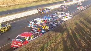 supercars 12 car crash video in tasmania race 3 fox sports
