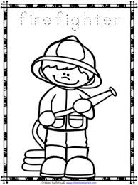 free community helpers tracing and coloring pages september
