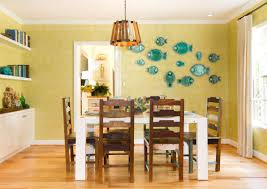 decorative plates on the wall of the dining room small design ideas