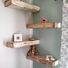 Home Decor Shabby Chic by White Rustic Shabby Chic Floating Shelf 60 Inch By