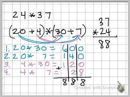using the distributive property to solve multiple digit