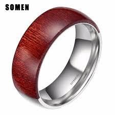 wood men rings images Luxury 8mm half titanium half wood men ring mahogany engagement jpg