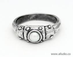 steunk engagement ring steunk engagement ring with pearl oxidised silver