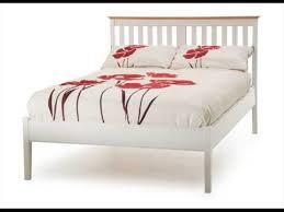 white wood bed frame single uk design youtube