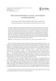 cause and effect essay sample pdf environmental problems causes and solutions an open question environmental problems causes and solutions an open question pdf download available
