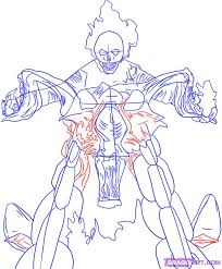 draw ghost rider step by step drawing sheets added by dawn