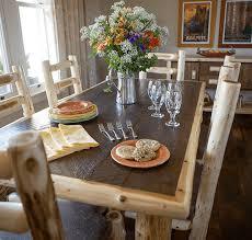 rustic log dining room tables log dining room furniture
