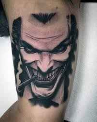 tattoo pictures joker 90 joker tattoos for men iconic villain design ideas