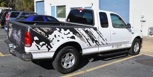 Ford F150 Truck Wraps - racing skins f150 u2013 custom u201craptor u201d style matte black tan