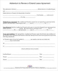 rental agreement renewal format extension of a lease template