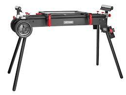 Wood Saw Table Miter Saw Stand Portable Garage Mechanic Wood Metal Bench