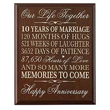 10th wedding anniversary 10th wedding anniversary wall plaque gifts for
