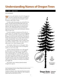 understanding names of oregon trees osu extension catalog