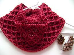free pattern diamond crochet cowl