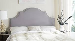amazon com safavieh hallmar arctic grey upholstered arched