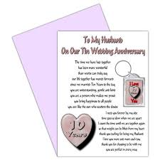 10 year anniversary gift husband best 10 year wedding anniversary gift for husband gallery styles