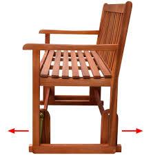 vidaxl porch glider swing bench acacia wood vidaxl com
