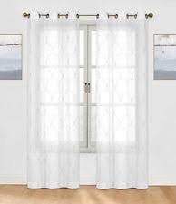 embroidered curtains drapes u0026 valances with sheer fabric ebay