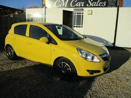 vauxhall yellow used vauxhall corsa hatchback 1 2 i 16v club 5dr in alfreton