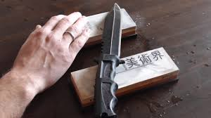 how to sharpen a knife on a sharpening stone whetstone to a
