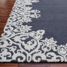 Brown And White Area Rug Cool Navy And White Area Rug Blue Regarding Rugs