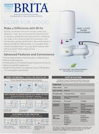 brita on tap faucet water filter system includes 1 system 2 brita on tap faucet water filter system includes 1 system 2 filters faucet mount water filters amazon com