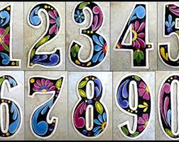 metal numbers etsy