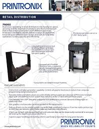 the advantages of line matrix printing in the retail distribution
