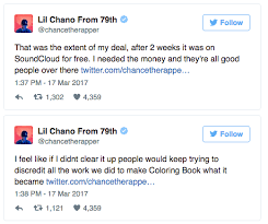 chance the rapper reveals details of his exclusive deal with apple