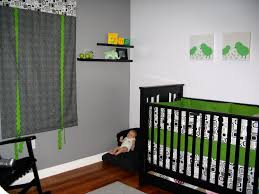 Green Gingham Curtains Nursery by Baby Nursery Modern Baby Nursery Space Ideas With Black