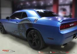 Dodge Challenger Matte Black - dodge challenger gets matt blue wrap from profoil autoevolution