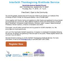 interfaith thanksgiving gratitude service
