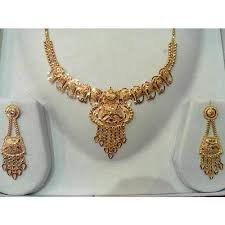 bengali gold earrings necklace with earrings golden necklace sets kolkata new roy