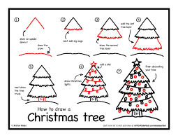 draw a christmas tree step by step christmas lights decoration