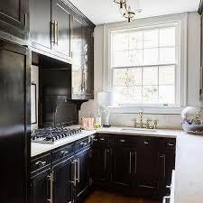 black kitchen cabinets small kitchen small contemporary black kitchen design ideas