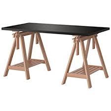 ikea black brown desk amazon com ikea linnmon black brown desk table 59x30 with 2 birch