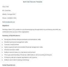 Ceo Resume Sample Banking Resume Template U2013 21 Free Samples Examples Format