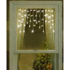 set of 50 twinkling shimmering clear window curtain icicle