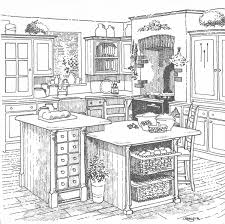 simple kitchen drawing interior design