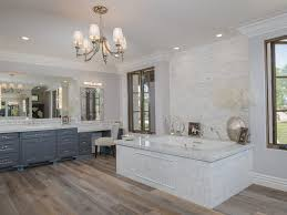 Marble Master Bathroom by Master Bathroom With Chandelier U0026 Complex Marble Counters In San