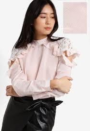peekaboo blouse pink peekaboo poplin blouse shopperboard