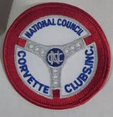 national council of corvette clubs george benefit golf tournament brass belt buckle